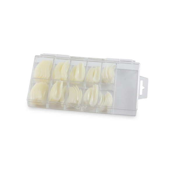 Nails Factory Nagel Tips Krallenform Sortierbox 100 Stück geschlossen