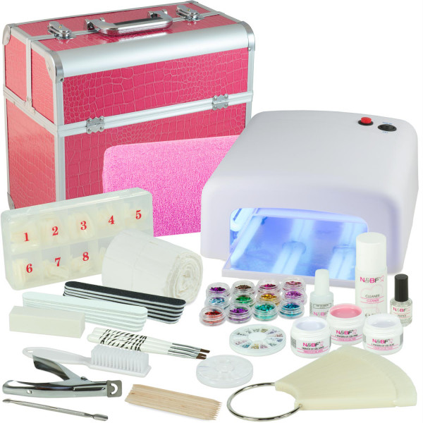Nails & Beauty Factory Mobiles Nagelstudio Starter Set Pink Croco Design